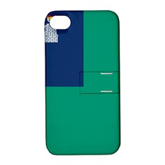 City of Dublin Flag Apple iPhone 4/4S Hardshell Case with Stand