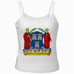 City of Dublin Coat of Arms  White Spaghetti Tank