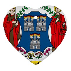 City of Dublin Coat of Arms  Heart Ornament (Two Sides)