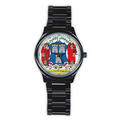 City of Dublin Coat of Arms  Stainless Steel Round Watch
