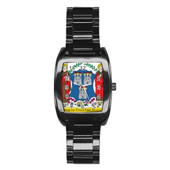 City of Dublin Coat of Arms  Stainless Steel Barrel Watch