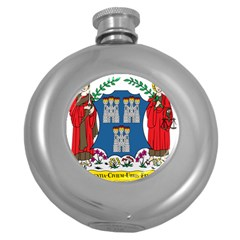 City of Dublin Coat of Arms Round Hip Flask (5 oz)