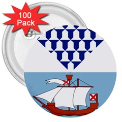 Flag of Belfast 3  Buttons (100 pack)
