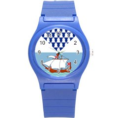 Flag of Belfast Round Plastic Sport Watch (S)