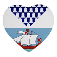 Flag of Belfast Heart Ornament (Two Sides)