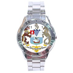 Coat of Arms of Belfast  Stainless Steel Analogue Watch