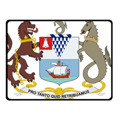 Coat of Arms of Belfast  Double Sided Fleece Blanket (Small)