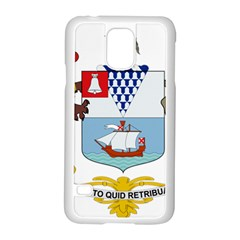 Coat of Arms of Belfast  Samsung Galaxy S5 Case (White)