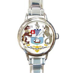 Coat of Arms of Belfast  Round Italian Charm Watch