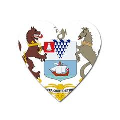 Coat of Arms of Belfast  Heart Magnet