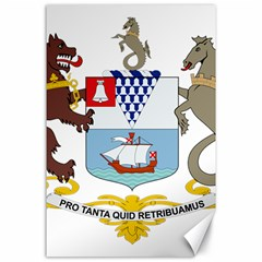 Coat of Arms of Belfast  Canvas 24  x 36
