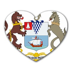 Coat of Arms of Belfast  Heart Mousepads