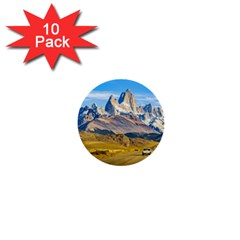 Snowy Andes Mountains, El Chalten, Argentina 1  Mini Buttons (10 pack)