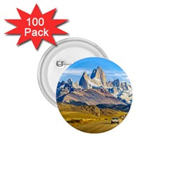 Snowy Andes Mountains, El Chalten, Argentina 1.75  Buttons (100 pack)