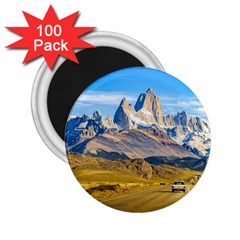 Snowy Andes Mountains, El Chalten, Argentina 2.25  Magnets (100 pack)