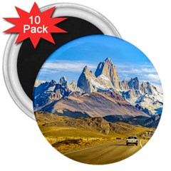 Snowy Andes Mountains, El Chalten, Argentina 3  Magnets (10 pack)