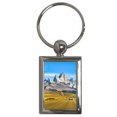 Snowy Andes Mountains, El Chalten, Argentina Key Chains (Rectangle)