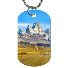 Snowy Andes Mountains, El Chalten, Argentina Dog Tag (Two Sides)