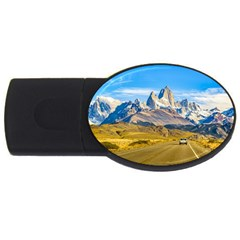 Snowy Andes Mountains, El Chalten, Argentina USB Flash Drive Oval (2 GB)