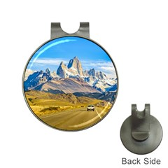 Snowy Andes Mountains, El Chalten, Argentina Hat Clips with Golf Markers