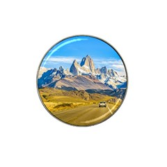 Snowy Andes Mountains, El Chalten, Argentina Hat Clip Ball Marker (4 pack)