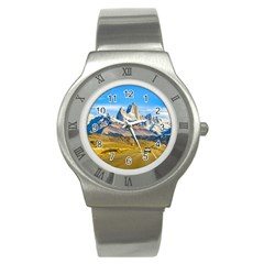 Snowy Andes Mountains, El Chalten, Argentina Stainless Steel Watch