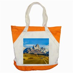 Snowy Andes Mountains, El Chalten, Argentina Accent Tote Bag