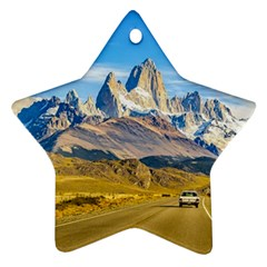 Snowy Andes Mountains, El Chalten, Argentina Star Ornament (Two Sides)