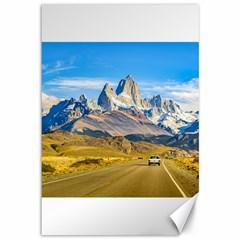 Snowy Andes Mountains, El Chalten, Argentina Canvas 12  x 18