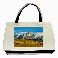 Snowy Andes Mountains, El Chalten, Argentina Basic Tote Bag (Two Sides)