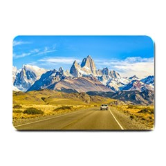 Snowy Andes Mountains, El Chalten, Argentina Small Doormat