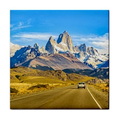Snowy Andes Mountains, El Chalten, Argentina Face Towel