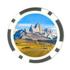 Snowy Andes Mountains, El Chalten, Argentina Poker Chip Card Guard (10 pack)