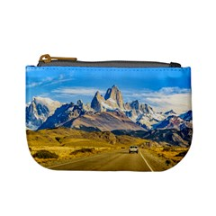 Snowy Andes Mountains, El Chalten, Argentina Mini Coin Purses