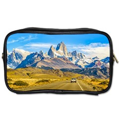 Snowy Andes Mountains, El Chalten, Argentina Toiletries Bags 2-Side