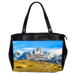 Snowy Andes Mountains, El Chalten, Argentina Office Handbags (2 Sides)