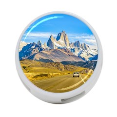 Snowy Andes Mountains, El Chalten, Argentina 4-Port USB Hub (Two Sides)