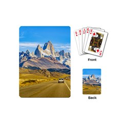 Snowy Andes Mountains, El Chalten, Argentina Playing Cards (Mini)