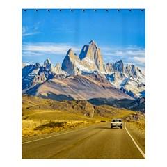 Snowy Andes Mountains, El Chalten, Argentina Shower Curtain 60  x 72  (Medium)