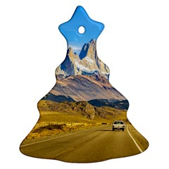 Snowy Andes Mountains, El Chalten, Argentina Christmas Tree Ornament (Two Sides)