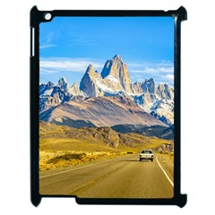 Snowy Andes Mountains, El Chalten, Argentina Apple iPad 2 Case (Black)