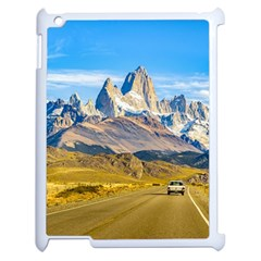 Snowy Andes Mountains, El Chalten, Argentina Apple iPad 2 Case (White)