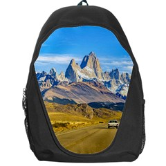 Snowy Andes Mountains, El Chalten, Argentina Backpack Bag