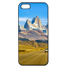 Snowy Andes Mountains, El Chalten, Argentina Apple iPhone 5 Seamless Case (Black)