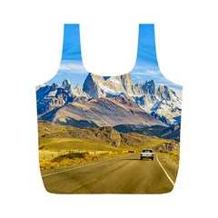 Snowy Andes Mountains, El Chalten, Argentina Full Print Recycle Bags (M)
