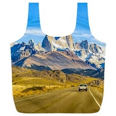 Snowy Andes Mountains, El Chalten, Argentina Full Print Recycle Bags (L)