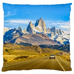 Snowy Andes Mountains, El Chalten, Argentina Standard Flano Cushion Case (Two Sides)
