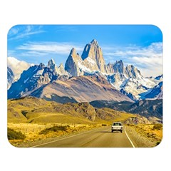 Snowy Andes Mountains, El Chalten, Argentina Double Sided Flano Blanket (Large)