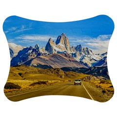Snowy Andes Mountains, El Chalten, Argentina Jigsaw Puzzle Photo Stand (Bow)
