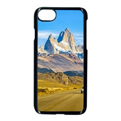 Snowy Andes Mountains, El Chalten, Argentina Apple iPhone 7 Seamless Case (Black)